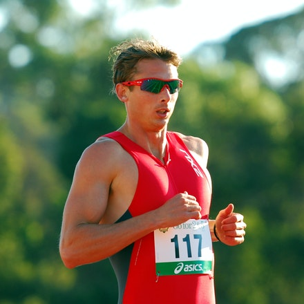 One track mind - Brendan Cole eases up as he crosses the line in the heats of the 400m hurdles at the 2010 Australian Championships in Perth. The Victorian...