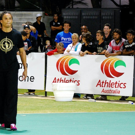 In John we trust - John Steffensen sports a provocative t-shirt prior to the heats of the 400m at the 2010 Australian Championships. Steffensen accused...