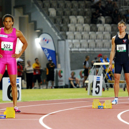 Standing out from the crowd - Outspoken sprinter John Steffensen sported a bright pink outfit to make a statement in the heats of the 400m at the 2010...