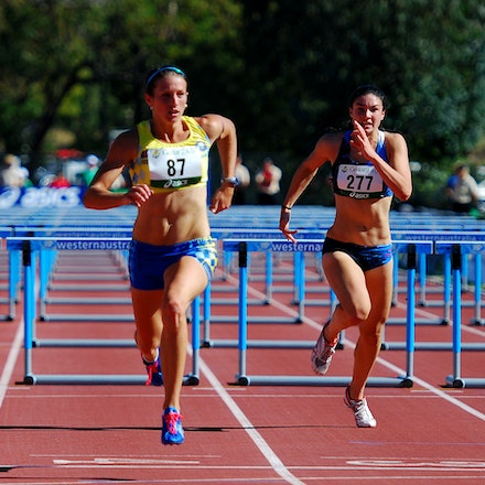 The Butler did it - Former junior talent, Hayley Butler (nee Cameron), returned to the track following motherhood and claimed the national 100m hurdles...