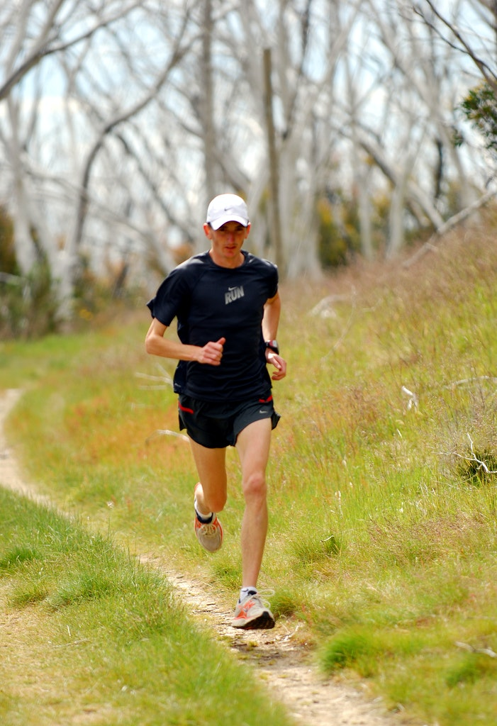 Michael Shelley - Michael Shelley training at Falls Creek in 2010.