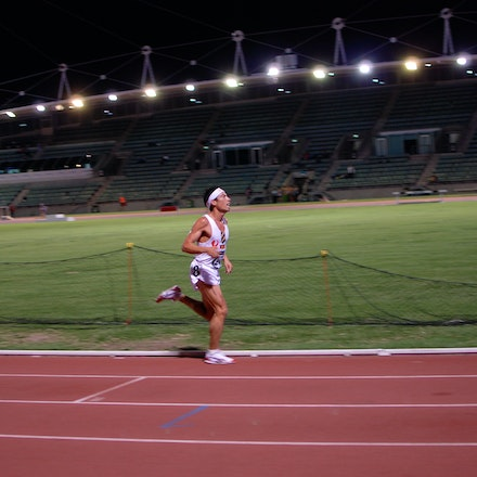 Chin dominant - Russell Dessaix-Chin lapped the entire field in the 10,000m at the 2011 NSW Championships.