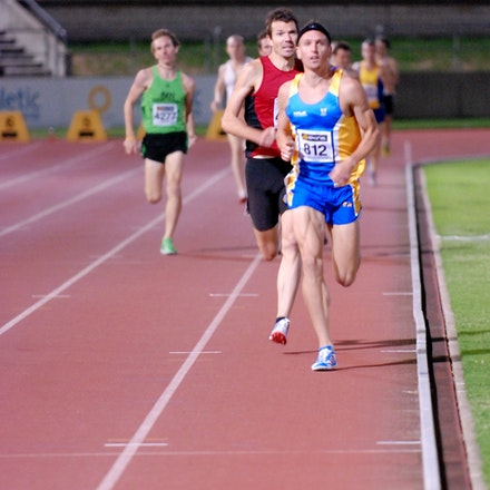 Roff and Saunders - Jeremy Roff and Philo Saunders stride down the home straight in the heats of the 1500m at the 2011 NSW Championships to easily qualify...