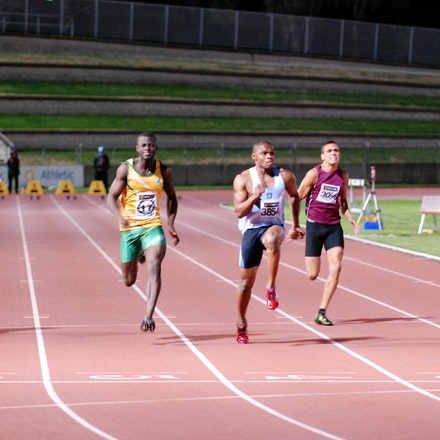 Anthony Alozie wins the 100m - In the blue riband event, the 100m, Anthony Alozie showed the field a clean pair of heels with a run of 10.48 seconds (+0.0)....