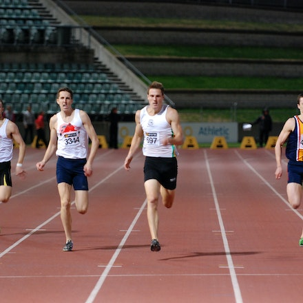 400m action - It was a close race in the men's 400m at the 2011 NSW Championships, with Kevin Moore taking line honours with a run of 46.17 seconds. In...