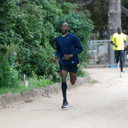 Bernard Lagat - Bernard Lagat training around The Tan in Melbourne ahead of the 2011 World Athletics Tour meet.