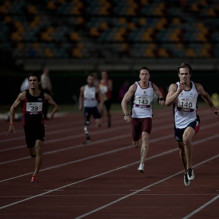 Evan O'Hanlon - Five-time Paralympic gold medallist Evan O'Hanlon won the AWD 200m in 21.97 seconds at the 2013 Queensland Track Classic.  Photo: Chris...
