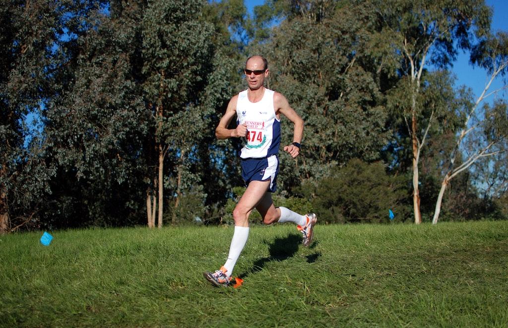 Steve Moneghetti - 2013 Victorian Cross Country Championships at Bundoora.