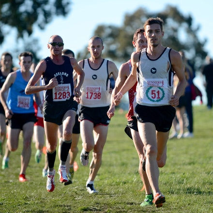 Steve Kelly - 2013 Victorian Cross Country Championships at Bundoora.