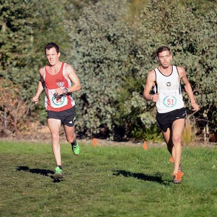 Liam Adams and Steve Kelly - 2013 Victorian Cross Country Championships at Bundoora.