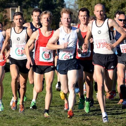 Lead pack - 2013 Victorian Cross Country Championships at Bundoora.