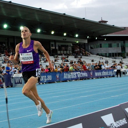 Gregson victorious - Ryan Gregson took out the 1500m with a run of 3:38.06, with a devastating final lap opening up a two-second winning margin over Kenya's...