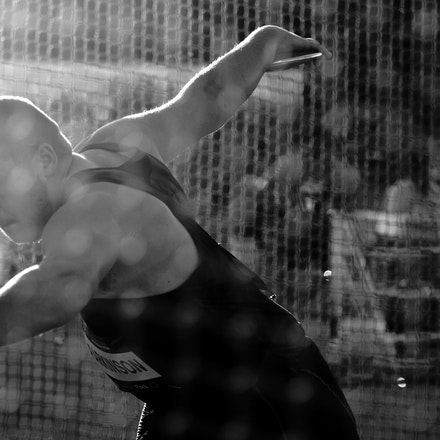 Alexander Parkinson - New Zealand's Alexander Parkinson prepares to throw the discus at the 2016 Australian Championships in Sydney.