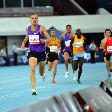 Ryan Gregson - National record holder Ryan Gregson completely outclassed the field in the 1500m, with a devastating final lap opening up a two-second winning...