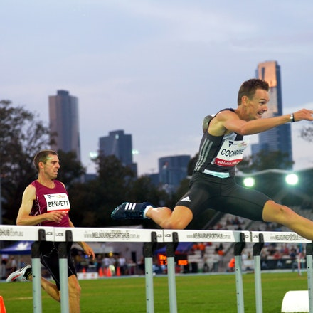 Michael Cochrane - New Zealand's Michael Cochrane took out the 400m hurdles in 50.48 seconds.