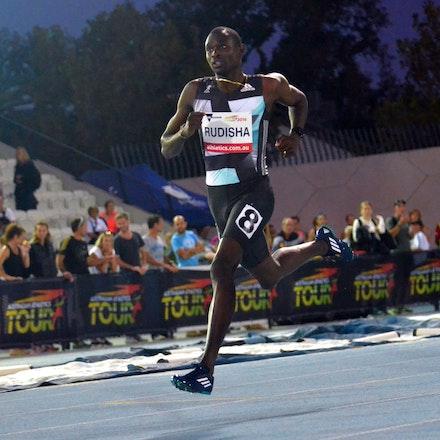 David Rudisha - Kenya's David Rudisha graced the track in the 800m, taking victory in 1:44.78.