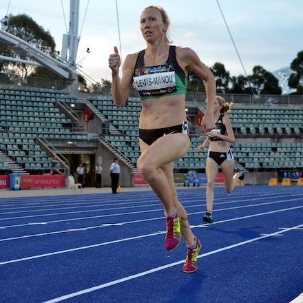 Tamsyn Lewis-Manou - Tamsyn Lewis-Manou strides clear of the field in the heats of the 800m at the 2016 Australian Championships. After a bronze medal...