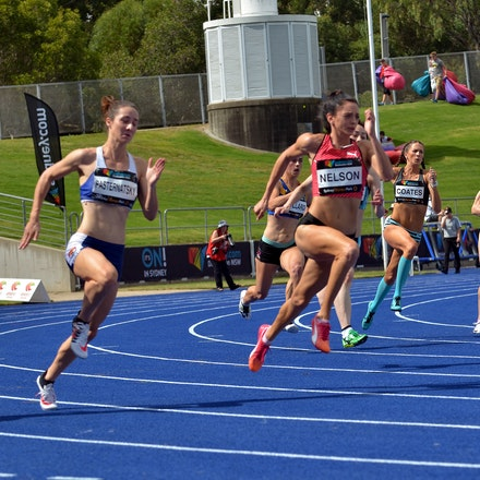 Ella Nelson - Ella Nelson took out her third consecutive Australian 200m title in a personal best performance of 22.59 seconds (+0.6).