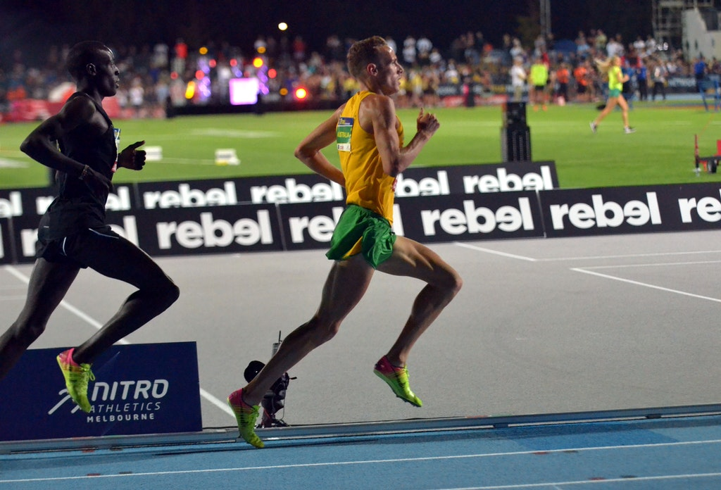 Ryan Gregson - Australia's Ryan Gregson leads the way in the Elimination Mile during the second round of Nitro Athletics in 2017.
