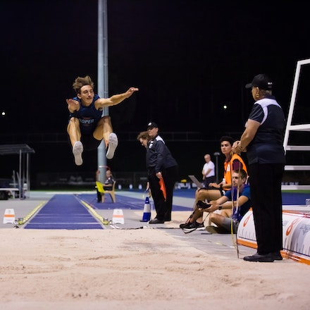 Darcy Roper - Darcy Roper took out the long jump with a leap of 8.05m.