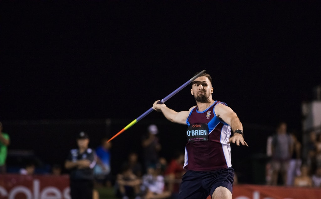 Liam O'Brien - Javelin winner at the 2019 Queensland International Track Classic in 81.36m.