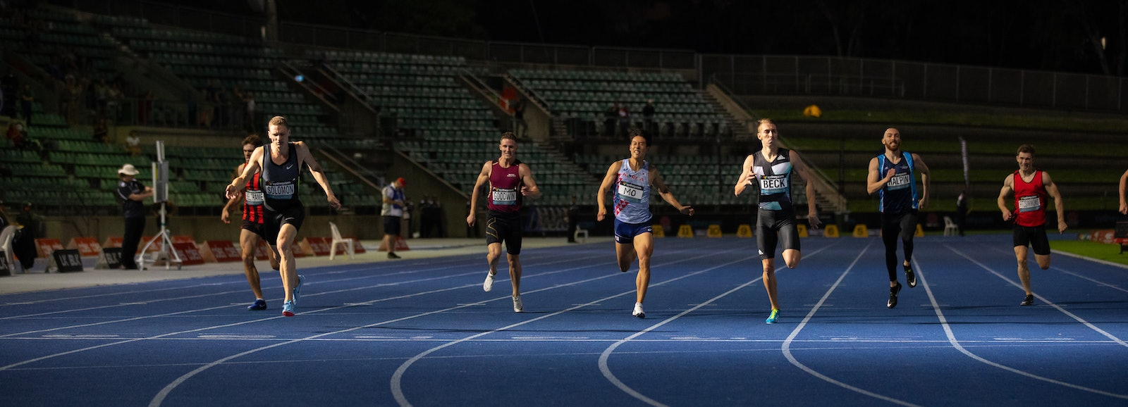 400m final - Steve Solomon outclassed the field in the 400m at the 2019 Australian Championships. Photo: Casey Sims