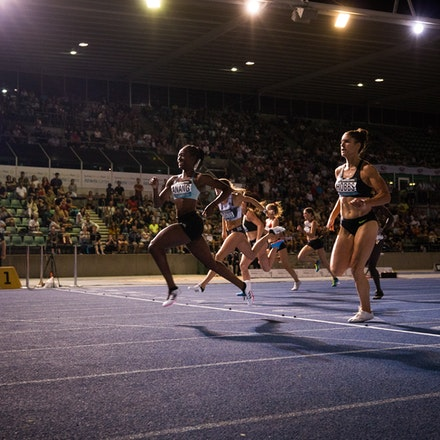 Naa Anang - Naa Anang took out the 100m at the 2019 Australian Championships in Sydney. Photo: Casey Sims