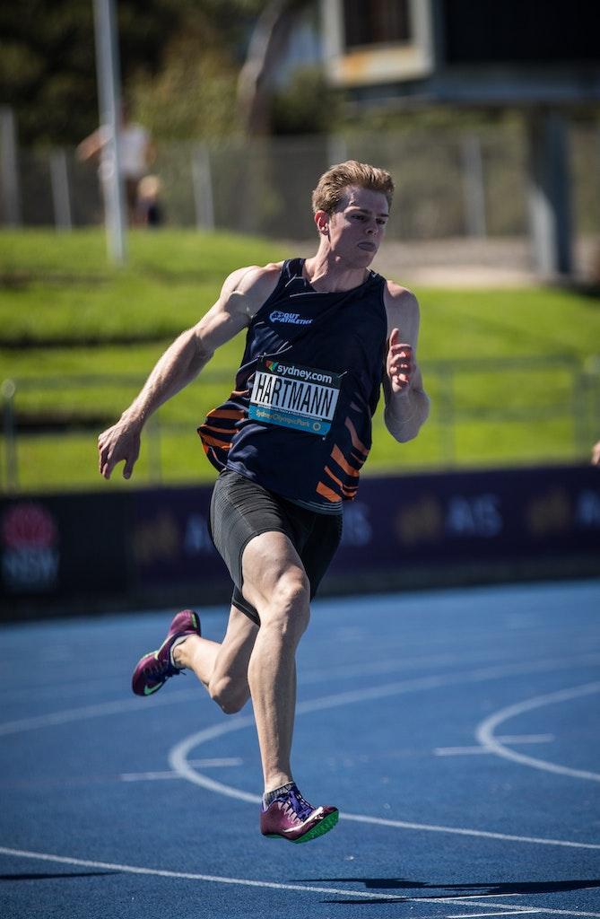 Alex Hartmann - Alex Hartmann won his fifth consecutive Australian 200m title at the 2019 Australian Championships in Sydney. Photo: Casey Sims