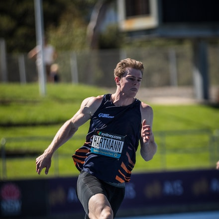 Alex Hartmann - Alex Hartmann won his fifth consecutive Australian 200m title at the 2019 Australian Championships in Sydney. Photo: Casey Sims