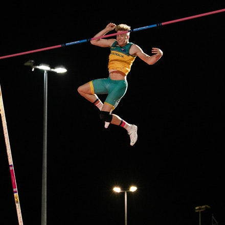 Ashley Moloney - Decathlete Ashley Moloney clears the bar in the pole vault at the 2019 Oceania Championships in Townsville. Photo by Casey Sims.