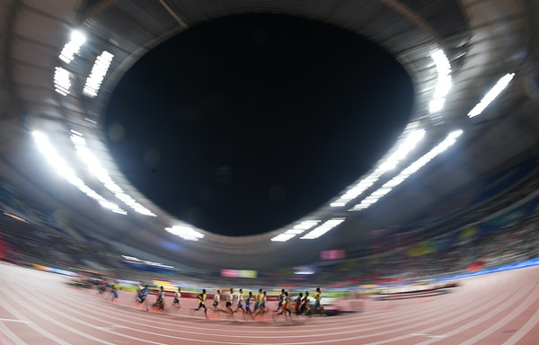 17th IAAF World Athletics Championships Doha 2019 - Day One - DOHA, QATAR - SEPTEMBER 27: A general view during the Men's 5000 metres heats during day...