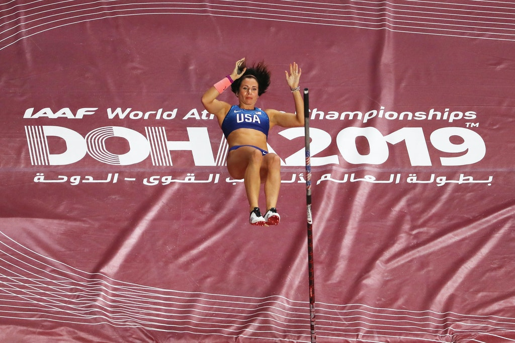17th IAAF World Athletics Championships Doha 2019 - Day One - DOHA, QATAR - SEPTEMBER 27:  Jennifer Suhr of the United States competes in the Women's Pole...