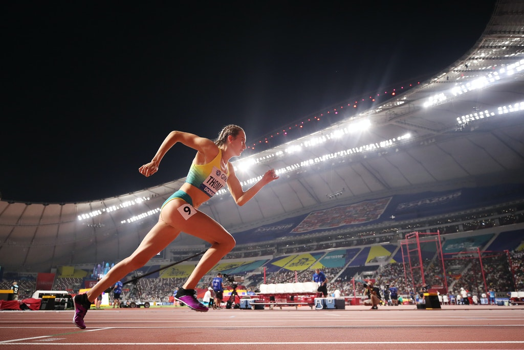 17th IAAF World Athletics Championships Doha 2019 - Day One - DOHA, QATAR - SEPTEMBER 27: Carley Thomas of Australia competes in the Women's 800 metres...