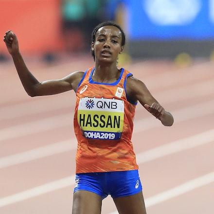 17th IAAF World Athletics Championships Doha 2019 - Day Two - DOHA, QATAR - SEPTEMBER 28:  Sifan Hassan of the Netherlands competes in the Women's 10,000...