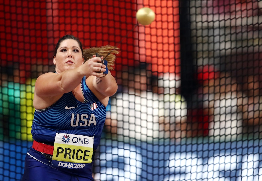 17th IAAF World Athletics Championships Doha 2019 - Day Two - DOHA, QATAR - SEPTEMBER 28: Deanna Price of the United States competes in the Women's Hammer...