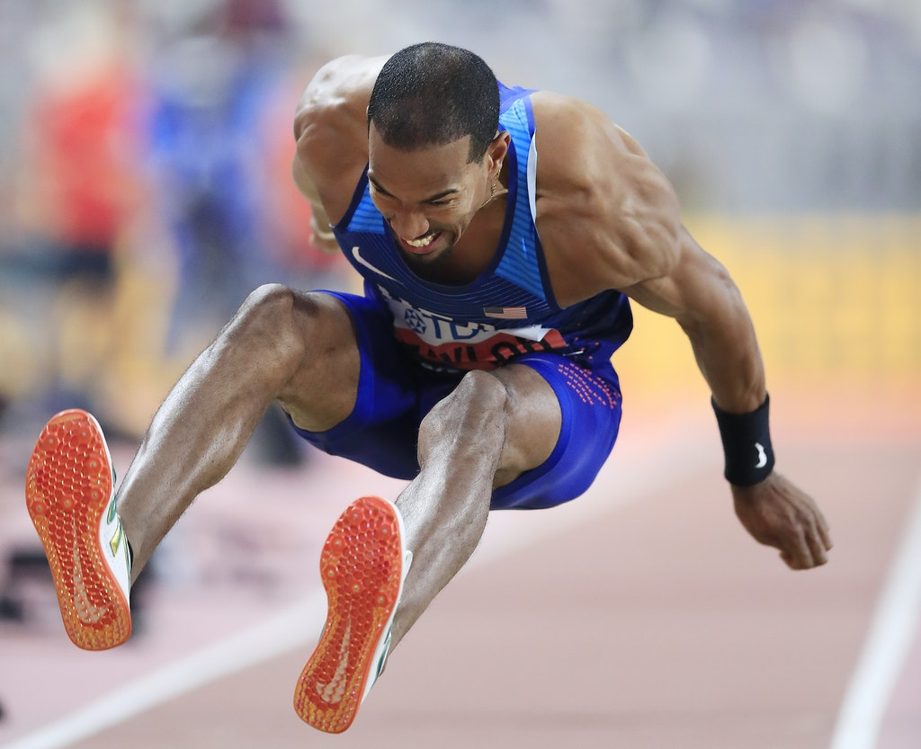 17th IAAF World Athletics Championships Doha 2019 - Day Three - DOHA, QATAR - SEPTEMBER 29:  Christian Taylor of the United States competes in the Men's...