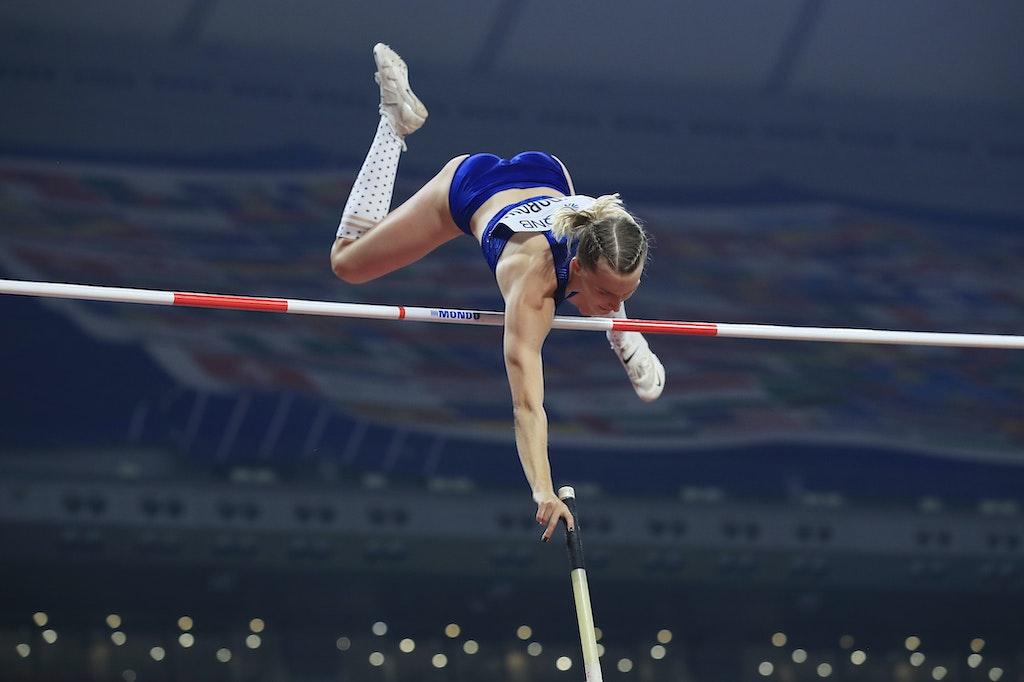 17th IAAF World Athletics Championships Doha 2019 - Day Three - DOHA, QATAR - SEPTEMBER 29:  Anzhelika Sidorova of the Authorised Neutral Athletes competes...