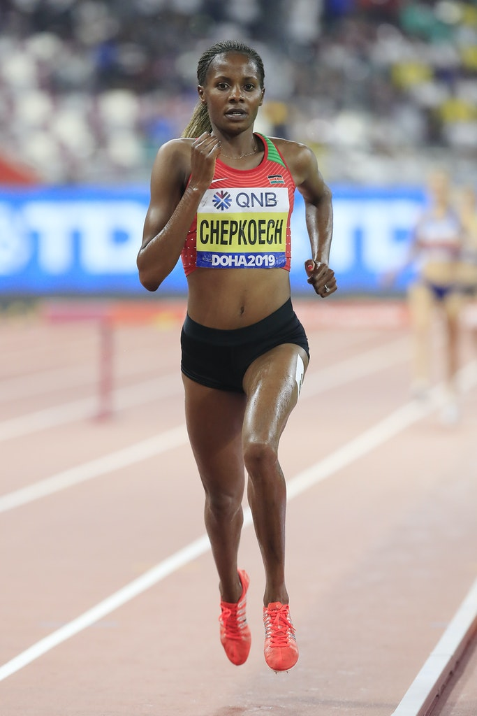 17th IAAF World Athletics Championships Doha 2019 - Day Four - DOHA, QATAR - SEPTEMBER 30: Beatrice Chepkoech of Kenya competes in the Women's 3000 metres...