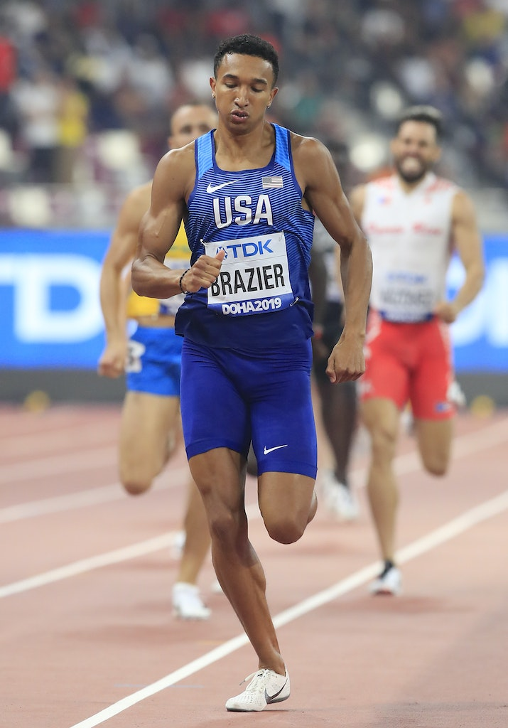 17th IAAF World Athletics Championships Doha 2019 - Day Five - DOHA, QATAR - OCTOBER 01: Donavan Brazier of the United States competes in the Men's 800...