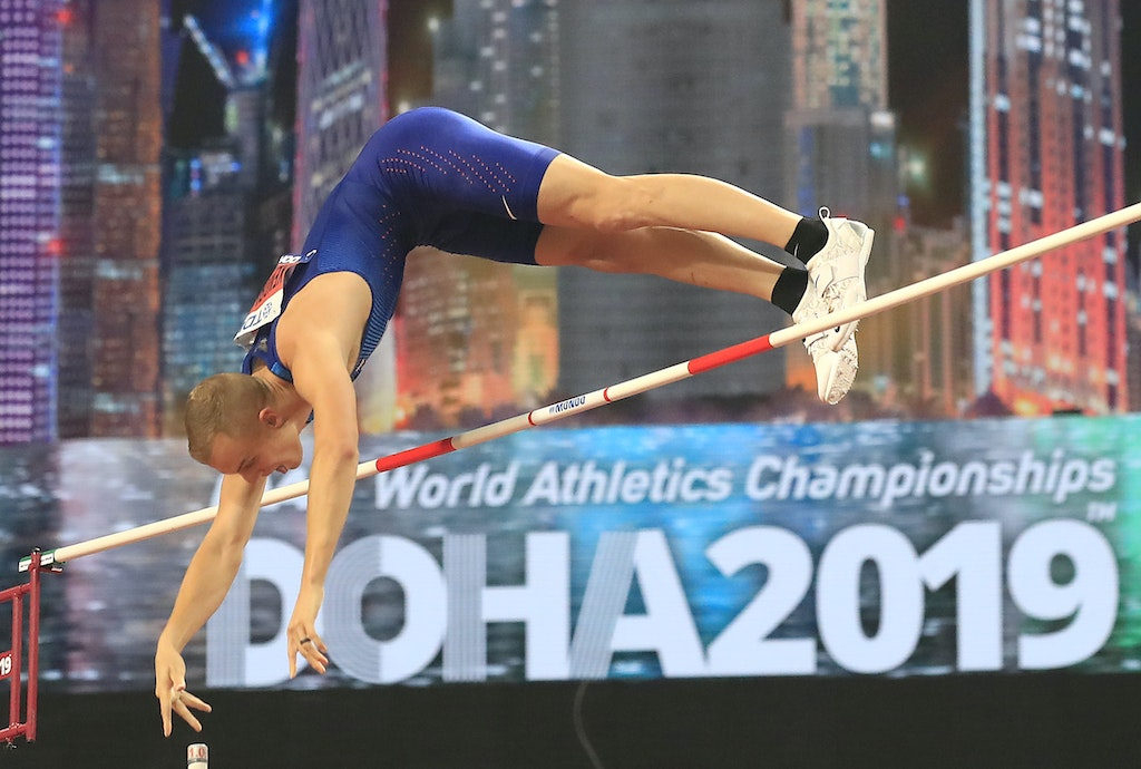 17th IAAF World Athletics Championships Doha 2019 - Day Five - DOHA, QATAR - OCTOBER 01: Sam Kendricks of the United States competes in the Men's Pole...
