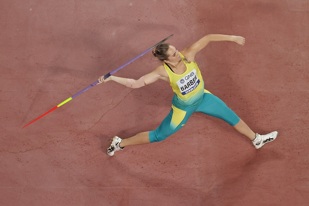 17th IAAF World Athletics Championships Doha 2019 - Day Five - DOHA, QATAR - OCTOBER 01: Kelsey-Lee Barber of Australia competes in the Women's Javelin...