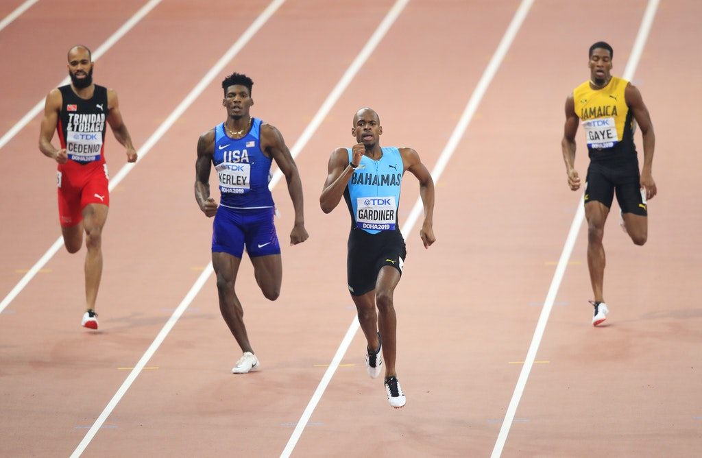 17th IAAF World Athletics Championships Doha 2019 - Day Eight - DOHA, QATAR - OCTOBER 04: Steven Gardiner of the Bahamas competes in the Men's 400 metres...