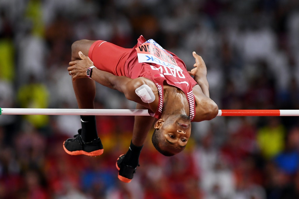 17th IAAF World Athletics Championships Doha 2019 - Day Eight - DOHA, QATAR - OCTOBER 04: Mutaz Essa Barshim of Qatar competes in the Men's High Jump final...