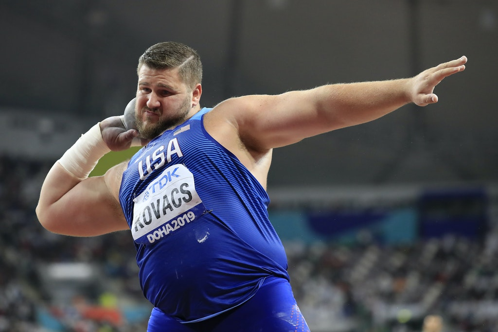 17th IAAF World Athletics Championships Doha 2019 - Day Nine - DOHA, QATAR - OCTOBER 05:  Joe Kovacs of the United States competes in the Men's Shot Put...
