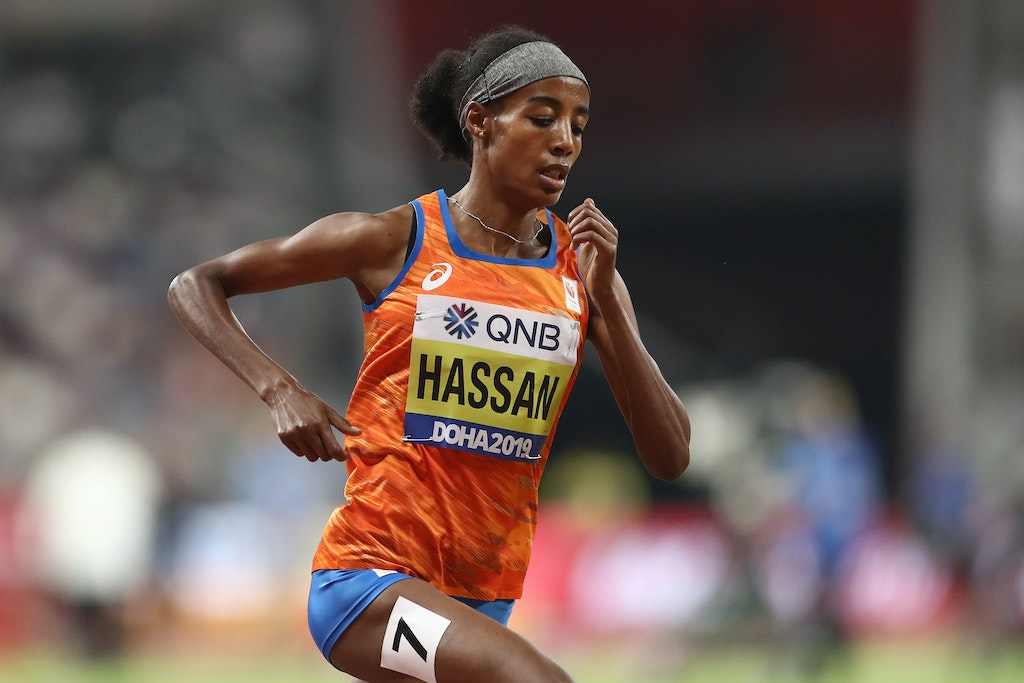 17th IAAF World Athletics Championships Doha 2019 - Day Nine - DOHA, QATAR - OCTOBER 05: Sifan Hassan of Netherlands competes in the Women's 1500 Metres...