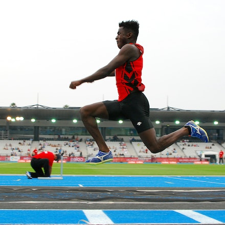 Emmanuel Fakiye - Emmanuel Fakiye in action in the triple jump at the 2020 Melbourne Track Classic at Lakeside Stadium.