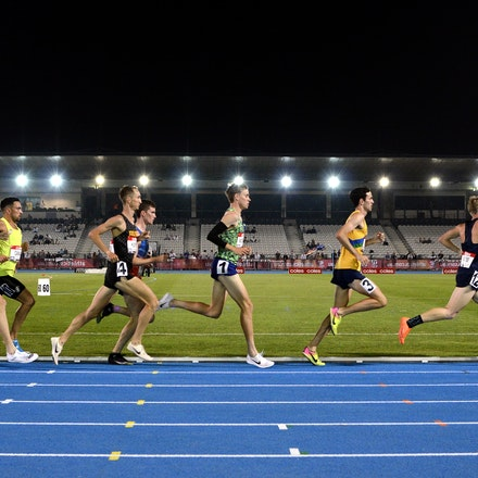 5000m National Championship - The field in the men's 5000m at the 2020 Melbourne Track Classic at Lakeside Stadium. With a world class display over the...