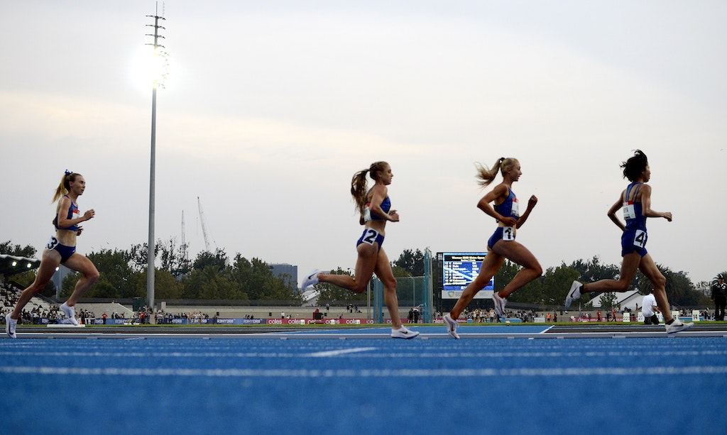 Melbourne Track Classic 2020 - Japan's Hitomi Niiya leads Australians Jessica Hull, Genevieve Gregson and Linden Hall in the 5000m at the 2020 Melbourne...
