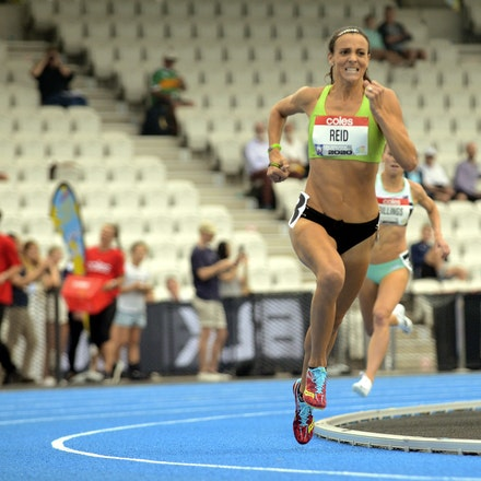 Lauren Reid - A front running performance from Lauren Reid was rewarded with victory in the 1500m in 4:16.52.