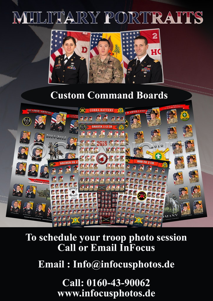 Military portrait command boards